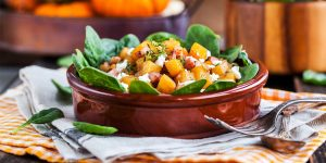 How To Make Roasted Butternut Squash Salad with Maple Mustard Vinaigrette